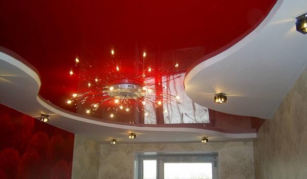 натяжной потолок 12 м кв фото