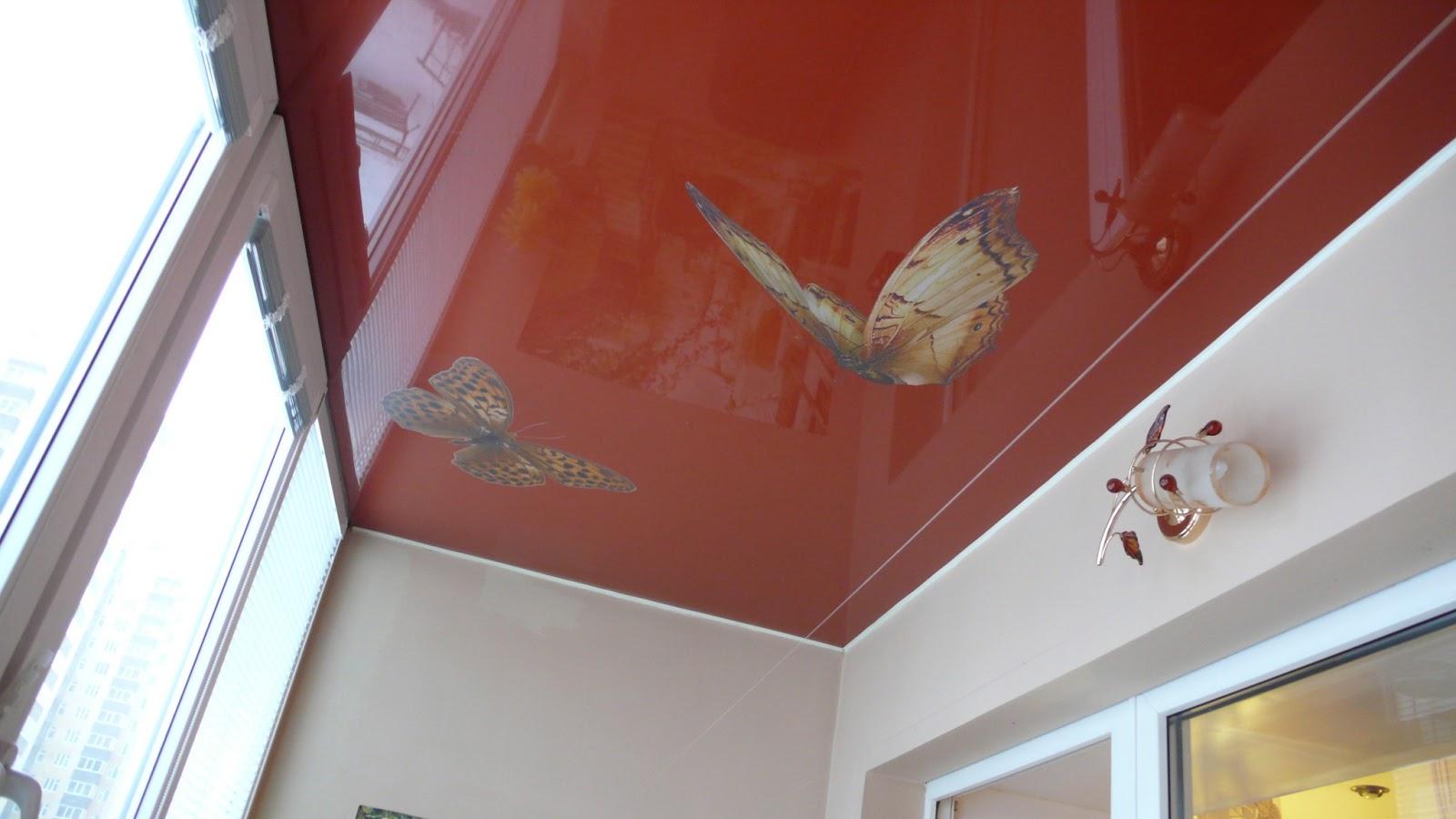 Натяжной потолок на балконе и лоджии: можно ли сделать, плюс.